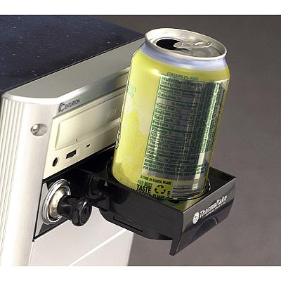 A cigarette lighter and cupholder for your PC