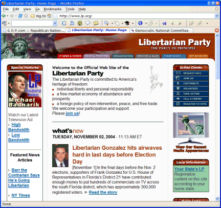 Libertarian Party in Firefox