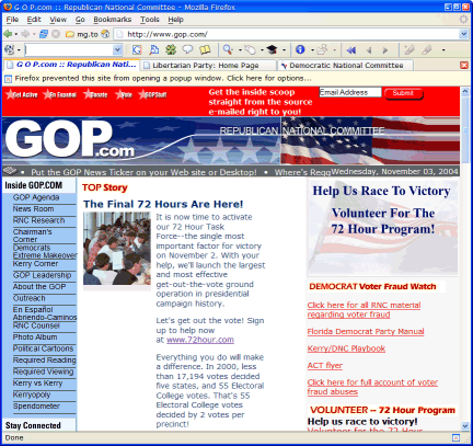 Republican Party in Firefox